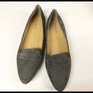 TALBOTS Gray Suede Pointed Toe Shoes Flats